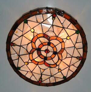 高品質☆ ステンドグラス ペンダントライト 豪華天井照明ステンドグラスランプ ガラス貝工芸品