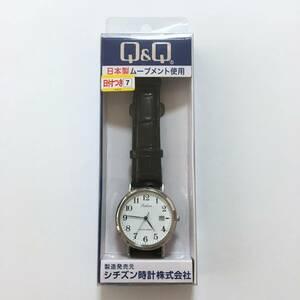 シチズン 日付つき 腕時計 3針 日常生活防水 Q&Q アナログ メンズ