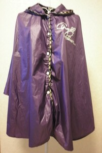 アーノルドパーマー 紫 薄手 ポンチョ 携帯 収納 ポーチ 付き サイズ 1 ARNOLD PALMER