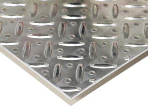 アルミ縞板 A5052 生地 板厚2.0mm 191mm × 197mm 1枚