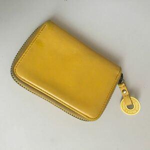 正規品ヴィンテージ品状態良好オールドミュウミュウ正規品miumiuレザーキーケース&カードケース優しい黄色本革皮革
