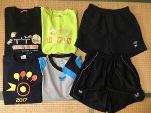 #Lサイズ 卓球 練習着 トレーニングウェア まとめ売り バタフライ、ニッタク、ミズノ