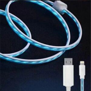 光る 流れる ライトニング USB ケーブル ブルー iPhoneケーブル 充電ケーブル ライトニングケーブル