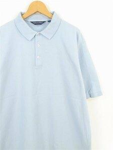 BIGサイズ メンズXL 旧タグ ポロラルフローレン 半袖ポロシャツ 無地 ライトブルー系 メンズUS-XLサイズ hs-7270