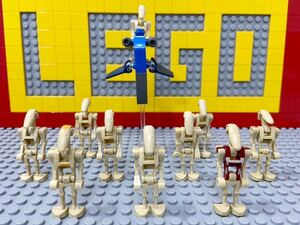 ☆スターウォーズ☆ レゴ ミニフィグ 大量10体 バトルドロイド 兵士 ( LEGO 人形 ロボット