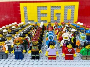 ☆シティ☆ レゴ ミニフィグ 大量100体 子供 警察官 泥棒 消防士 レーサー など ( LEGO 人形 住民