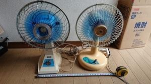 2台セット 扇風機 4枚羽 小型扇風機 家電 昭和 レトロ アンティーク 中古 ★☆