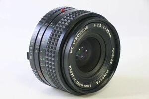 実用★ミノルタ MINOLTA MC W.ROKKOR 35mm F2.8★クモリ★DDD625