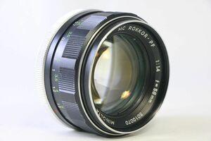 ミノルタ MINOLTA MC ROKKOR-PF 58mm F/1.4★レンズ縁くもり★GGG938