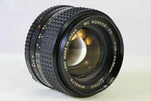 実用★ミノルタ MINOLTA MC ROKKOR-PG 50mm F1.4★クモリ★877