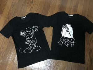 【Sサイズ 2枚セット】中古品 uniqlo UT x UU UNDER COVER x disney ユニクロ グラフィック 半袖 Tシャツ Mickey アンダーカバー ミッキー