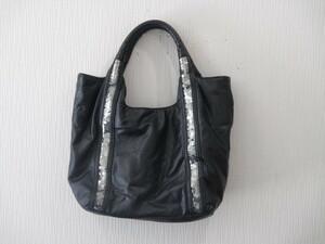 メーカー不明 ブラック ハンドバッグ 中古品 ゆうパック100サイズ 1円スタート 同梱対応可能