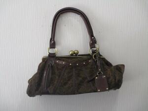 cal ハンドバッグ がま口 中古品 ゆうパック100サイズ 1円スタート 同梱対応可能
