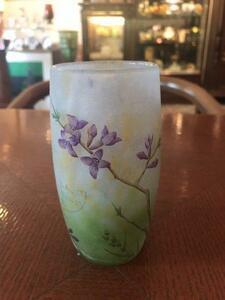 ドームナンシー DAUM NANCY ジンチョウゲの花のタンブラー花瓶