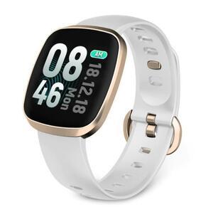 お値打ち価格《送料0です》 スマートウォッチ ホワイト 日本語対応 最新版 血圧計 心拍計 歩数計 防水 活動量 消費カロリー 睡眠検測 bfdwp