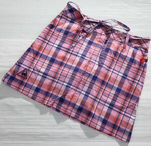 《le coq sportif GOLF ルコックゴルフ》ロゴ刺繍 チェック柄 インナーパンツ一体型 ストレッチ素材 ゴルフ スカート 7