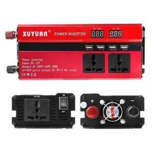 安価に挑戦です^^厳選★カーパワーインバーター 連続出力2000W 瞬間最大5000W 入力DC12V 出力AC110V 車載充電器 LED USB: 12V-110V