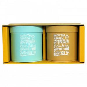 中井製茶場 有機栽培茶 ギフト缶セット 煎茶・ほうじ茶 ティーバッグ J1345(a-1682194)