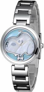 raw .70 anniversary commemoration limitation Snoopy diamond face wristwatch blue new goods unused