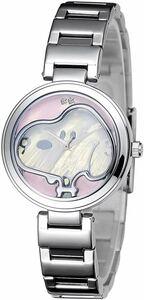 raw .70 anniversary commemoration limitation Snoopy diamond face wristwatch pink new goods unused goods