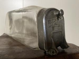 PERFECT VESSEL ガラス瓶 菓子瓶 駄菓子屋瓶 アンティーク ガラスケース 昭和レトロ 駄菓子タバコ便 ネコ瓶 気泡 厚硝子