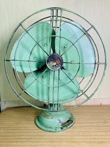 古い扇風機 三菱製 電気扇 羽30センチ electric fan 昭和レトロ アンティーク 扇風機
