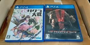 PS4新サクラ大戦+メタルギアソリッド5ファントムペイン 動作確認済み 送料無料