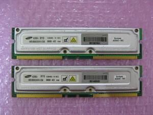 SAMSUNG (MR18R0828AN1-CK8) PC800-45 128MB ECC attaching *2 sheets set ( total 256MB)* (1)