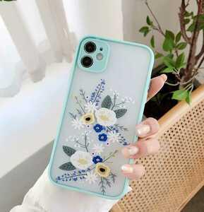iphone12ケース アイフォン 韓国スマホマリメッコmarimekko北欧ウニッコ アフタヌーンティーデイジー 押し花ドライフラワー水色ブルー青