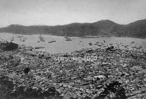 複製復刻 絵葉書/古写真 長崎 風頭山から長崎全景 明治期 Y_033