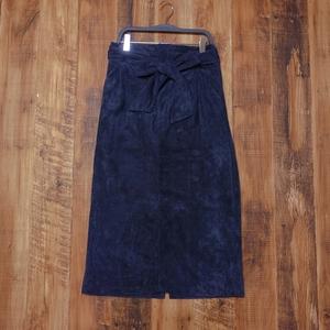 タイトスカート ロング Mサイズ レディース ウエストゴム 濃紺 KA22