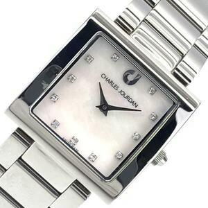 CHARLES JOURDAN シャルルジョルダン 72.12 レディース 腕時計 クオーツ シェル文字盤 アナログ 2針 ステンレス スクエア 管理RY21002356