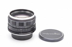 【 ★とても明るい単焦点レンズ★】 ミノルタ MINOLTA Auto ROKKOR PF 58mm F1.4<フィルター,前後キャップ>T6884