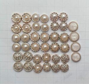 ◆パールmixカボション◆037番 ハンドメイドパーツ ボタン足なし!!