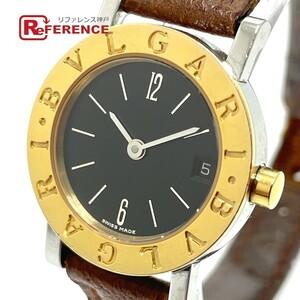 BVLGARI ブルガリ BB23SGLD デイト ブルガリブルガリ クオーツ レディース腕時計 SS/YG/革ベルト レディース シルバー×ゴールド