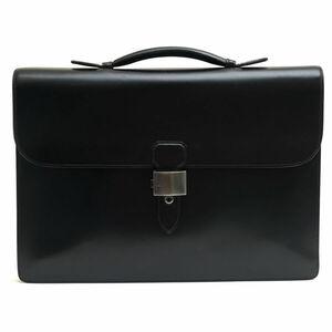 美品!Dunhill ダンヒル ビジネスバッグ ブリーフケース 牛革 カーフ YR8011A Confidential コンフィデンシャル フラップ式 d1183