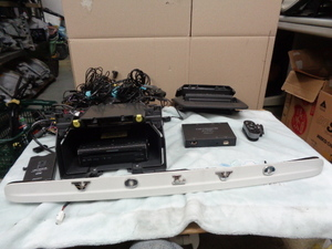 ボルボV50 CBA-MB4204S 純正 ナビ 2009年製 リモコン フィッティングセット ガーニッシュ バックカメラ付き ETC セット