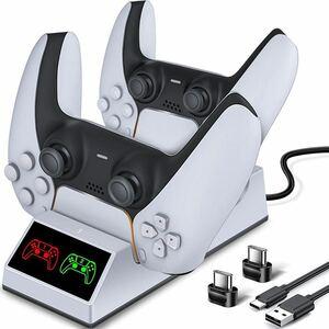 PS5 コントローラー 充電器 USB線付きLED 指示ランプ付き