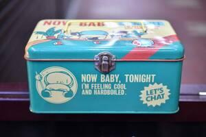 昭和 レトロ 当時物 1983年 日本製  SONY ソニー Let's Chat  レッツチャット  小物入れ 缶ケース 持ち手付き
