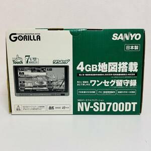 【現状品】SANYO サンヨー Gorilla SSDポータブルナビゲーション カーナビ NV-SD700DT 動作未確認 ジャンク 希少 レア