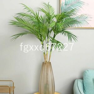 JV064:85cm 鉢無し オシャレな人口観葉植物 花 園芸 造花 フェイクグリーン 盆栽 ヤシの木 葉っぱ 枝 インテリア リ