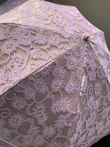 日傘 折りたたみ傘 USED パープルラメ