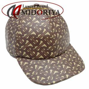 バーバリー BURBERRY ベースボールキャップ 帽子 PVC ブライドルブラウン L ☆未使用 80189711 /048317