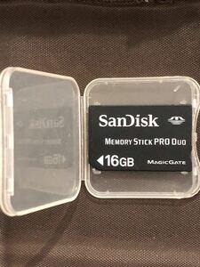 メモリースティックPRO Duo SanDisk16GB PSP使用可