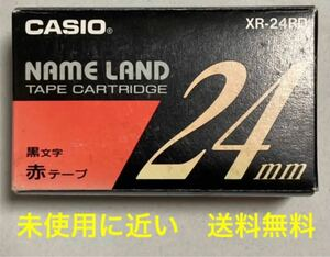 ◆未使用に近い◆カシオ/ネームランド/テープ/24ミリ/赤の黒文字