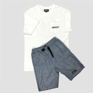 MANASTASH マナスタッシュ 半袖 コットン Tシャツ リネン ショートパンツ 上下セット