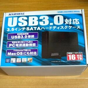 MARSHAL USB3.0対応 3.5インチ SATA ハードディスクケース MAL-5235SBKU3 16TB対応