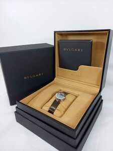 BVLGARI ブルガリ ビーゼロワン B-ZERO1 BZ22Sクォーツ レディース腕時計 12Pダイヤ ブルーシェル文字盤 #7286