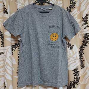 SCREEN STARS × BEAMS BOY / Tシャツ/スマイル/胸ポケット/サイズ・S/未使用