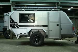 在庫あり即納可能!車検付きCKKS-X5 シルバー *キャンピングトレーラー* キャンピングカー* テレワーク*キャンプ*トレーラー